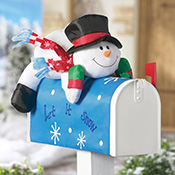Stuffable Snowman Holiday Mailbox Cover Decoration
