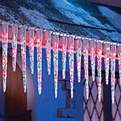 Multi Colored Icicle String Lights