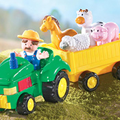 Farm Tractor with Animal Music and Sounds Toy