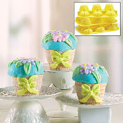 Flower Basket Silicone Cake Pan Molds - Set of 3