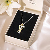 Crystal Cross & Fish Pendant Necklace - 20878