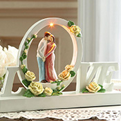 Lighted Love Table Sculpture w/ LED Lights