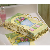 Spring Tulips Guest Paper Towel Set with Holder