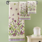Butterfly Garden 3 Pc Towel Set