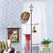 Decorative Country Metal Hanging Storage Stand
