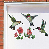 Hummingbirds & Flowers Garage Door Magnets
