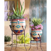 Southwest Garden Planters - Set of 2 - 21317