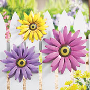Pastel Flowers Metal Hanging Wall Decor