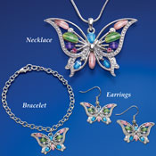 Butterfly Pendant Jewelry Collection
