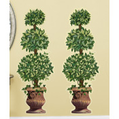 "Set of 2 Topiary Removable Wall Decals - 45""H"