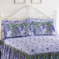 Purple Wisteria Pattern Floral Sham Set