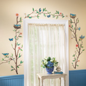 Birds & Butterflies Removable Wall Decal