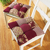 Red Country Patchwork Chair Cushion Set