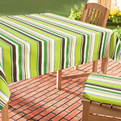 "Eco Stripe Tablecloth 59"" x 61"""