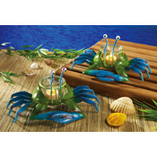 Blue Crab Tropical Party Votive Candle Holders