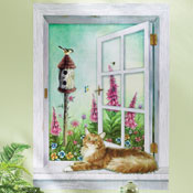 Flower Garden Scene Removable Wall Decal