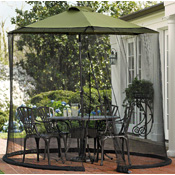 Umbrella Patio Table Screen