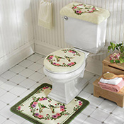 Hummingbird Bathroom Toilet Cover & Commode Set