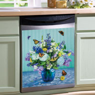Butterflies & Flowers Kitchen  Dishwasher Cover