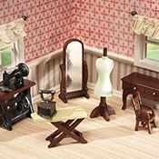 Seamstress Sewing Room Mini Collectible Furniture