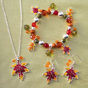 Fall Leaves Autumn Jewelry Set - 23772