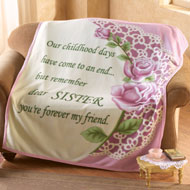 Special Sister Rose Fleece Throw Blanket - 23932