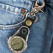 Fob Pocket Keychain Compass Watch