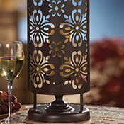 "Elegant Outdoor Candle Holder Lantern 17 3/4""H"