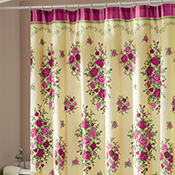 Pink Country Rose Bathroom Shower Curtain