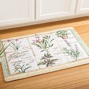Herb Garden Foam Kitchen Floor Mat