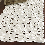 Ivory Floral Cut-Out Dresser Scarf