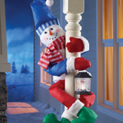 Holiday Snowman Railing or Tree Hugger - 25603