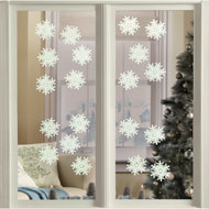 Glow in the Dark Snowflakes Decals - 20 Pc - 25633