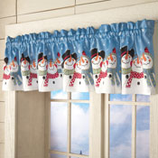 Frosty & Friends Snowman Window Valance - 25951