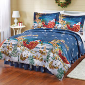 Reversible All Thru the Night Comforter Set with Bedskirt - 25983