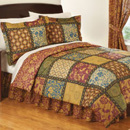 Quilted Vienna Bedroom Comforter Set with Bedskirt - 25991