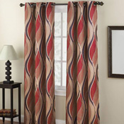 Intersect Wave Grommet Top Curtain Panel