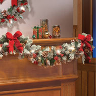 Lighted Christmas Frosted Pine Garland