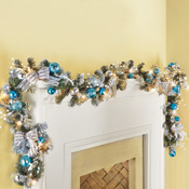Lighted Christmas Glitter Snowy Garland - 26630