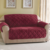 Quilted Velvet Furniture Cover