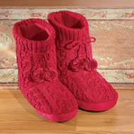 Women's Cable Knit Bootie Slippers - 27171
