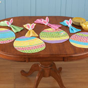 Easter Egg Floral Placemat Set - 12 pc