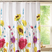 Floral Prisma Bathroom Shower Curtain - 27360