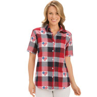 Classic Americana Button Down Plaid Shirt - 27478