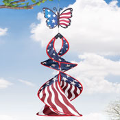 Butterfly Patriotic Hanging Wind Spinner - 27662