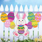 Easter Bunny and Eggs Hanging Banner - 27708