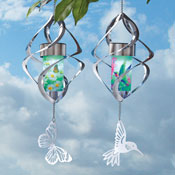 Hanging Spiral Wind Spinner with Solar Lights - 27796