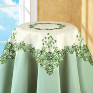 Embroidered Irish Clover Table Linens - 27814