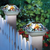 Solar Fence Post Light Cap with Bird Design - 27880