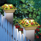 Solar Fence Butterfly Post Light Cap - 27884